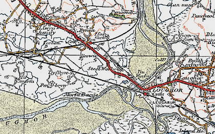 Old map of Yspitty in 1923