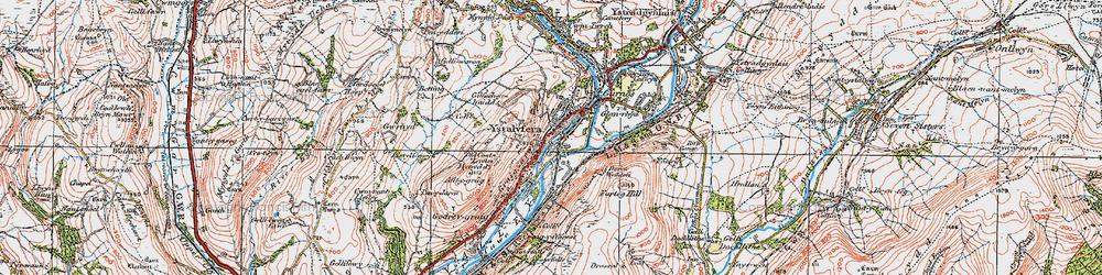 Old map of Ystalyfera in 1923