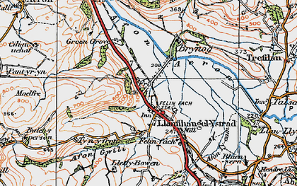 Old map of Allt y Fron in 1923