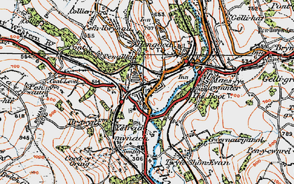 Old map of Ystrad Mynach in 1919