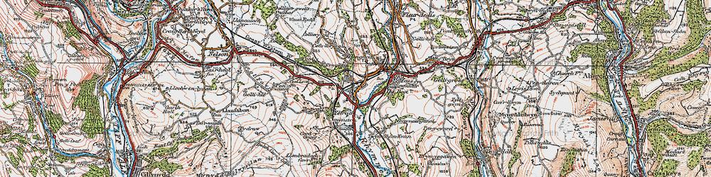 Old map of Ystrad Mynach in 1919