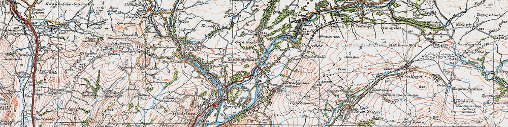 Old map of Ystradgynlais in 1923