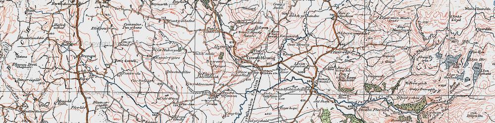 Old map of Afon Meurig in 1922