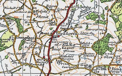 Old map of Ystradowen in 1922
