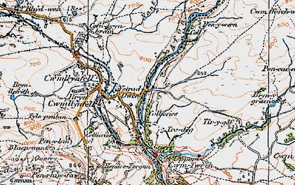 Old map of Ystradowen in 1923