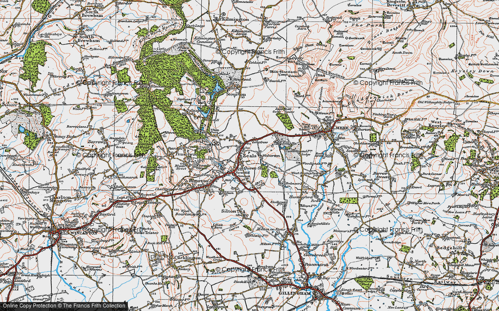 Old Map of Zeals, 1919 in 1919