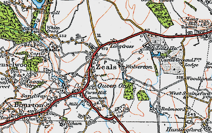 Old map of Zeals in 1919