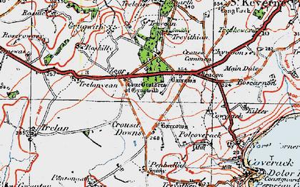 Old map of Zoar in 1919