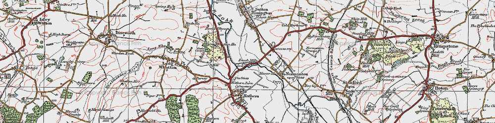 Old map of Whatton Ho in 1921