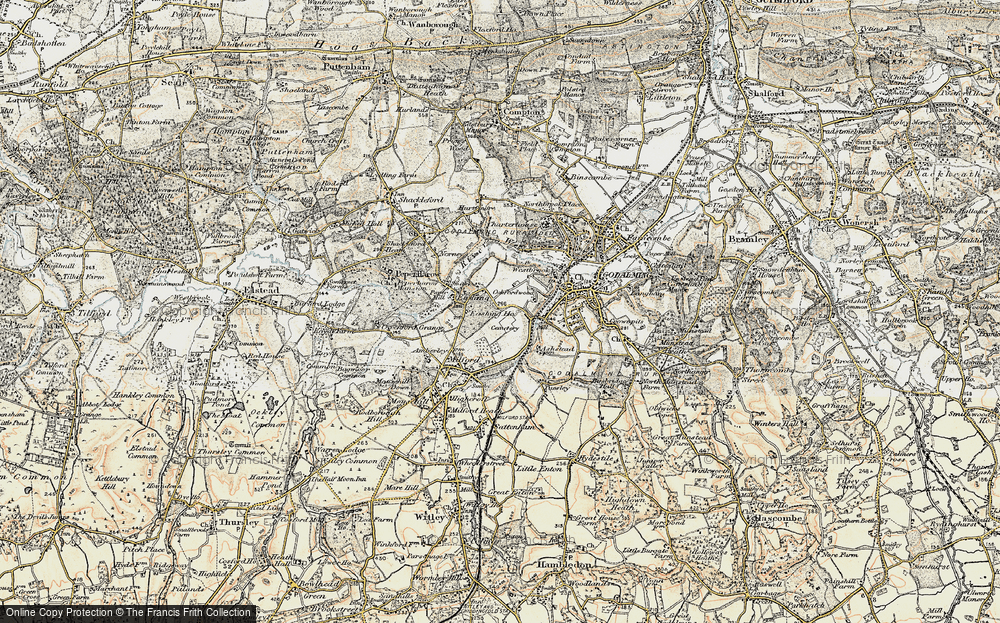 Old Map of Aaron's Hill, 1897-1909 in 1897-1909