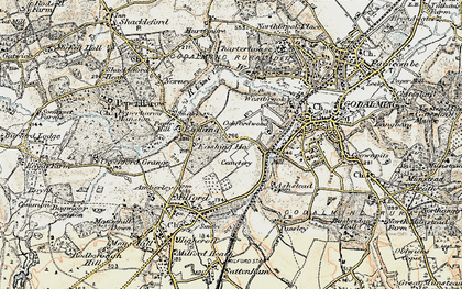 Old map of Aaron's Hill in 1897-1909
