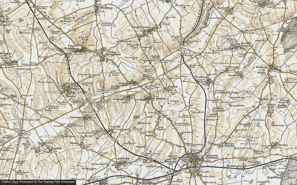 Old Map of Ab Kettleby, 1901-1903 in 1901-1903