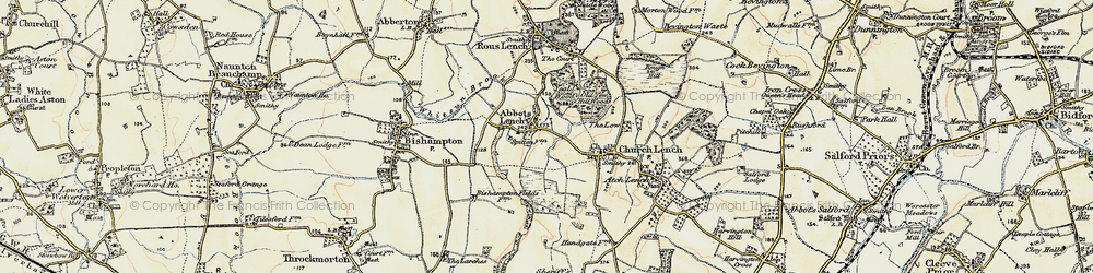 Old map of Ab Lench in 1899-1901