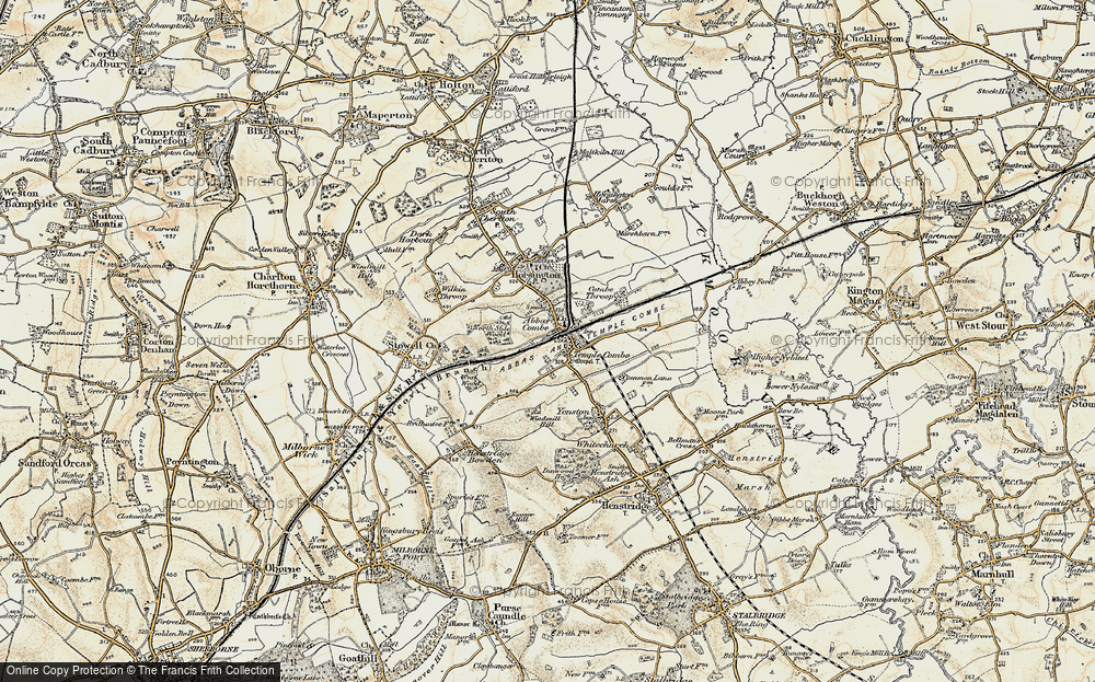Old Map of Abbas Combe, 1899 in 1899