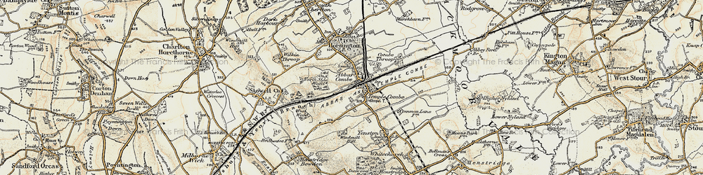 Old map of Abbas Combe in 1899
