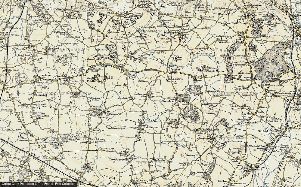 Old Map of Abberton, 1899-1901 in 1899-1901
