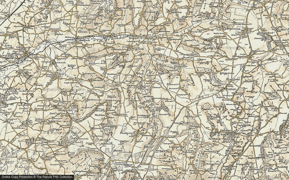 Old Map of Abbey, 1898-1900 in 1898-1900