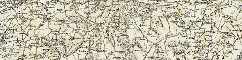 Old map of Abbey in 1898-1900