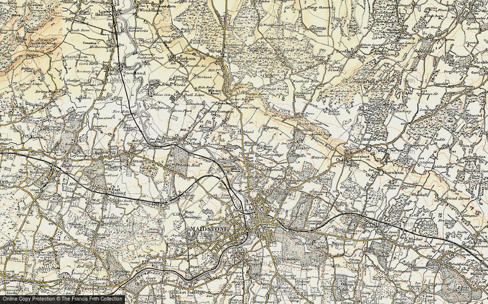 Old Map of Abbey Gate, 1897-1898 in 1897-1898