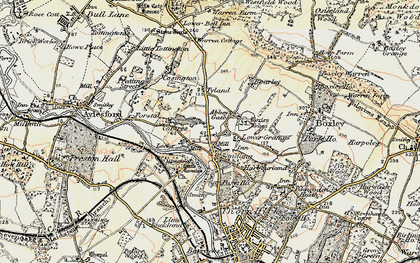 Old map of Abbey Gate in 1897-1898