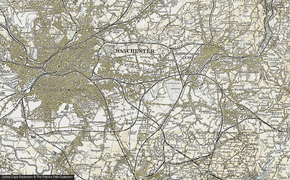 Old Map of Abbey Hey, 1903 in 1903