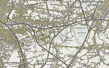 Old map of Abbey Hey in 1903