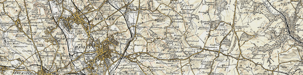 Old map of Woodhead in 1902