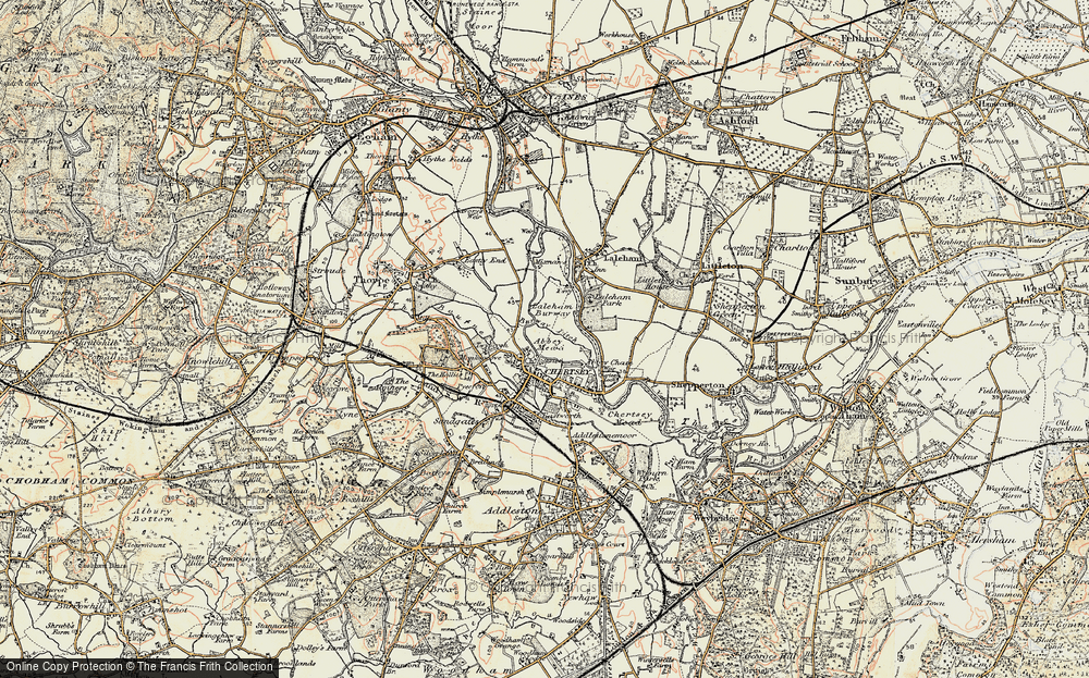 Old Map of Abbey Mead, 1897-1909 in 1897-1909