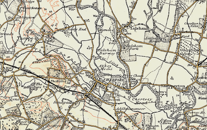 Old map of Abbey Mead in 1897-1909