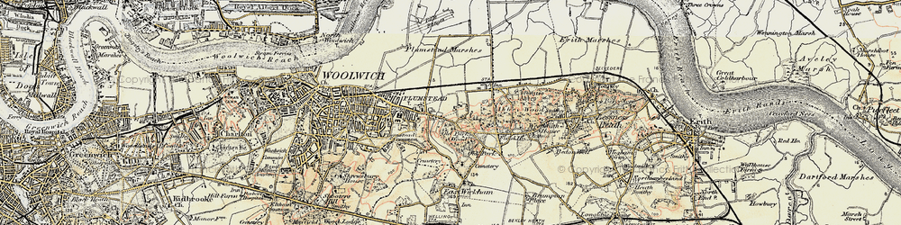 Old map of Abbey Wood in 1897-1902