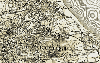 Old map of Abbeyhill in 1903-1906