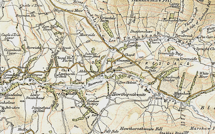 Old map of Abbeystead in 1903-1904