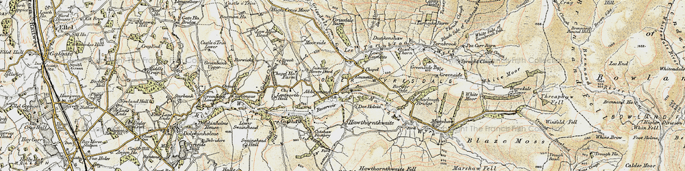 Old map of Abbeystead Resr in 1903-1904