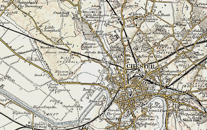 Old map of Abbot's Meads in 1902-1903