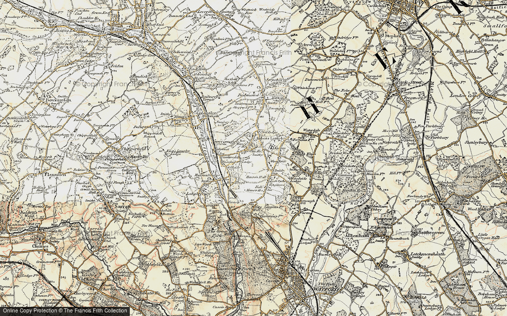 Old Map of Abbots Langley, 1897-1898 in 1897-1898