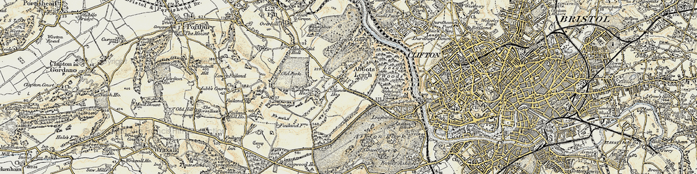 Old map of Abbots Leigh in 1899