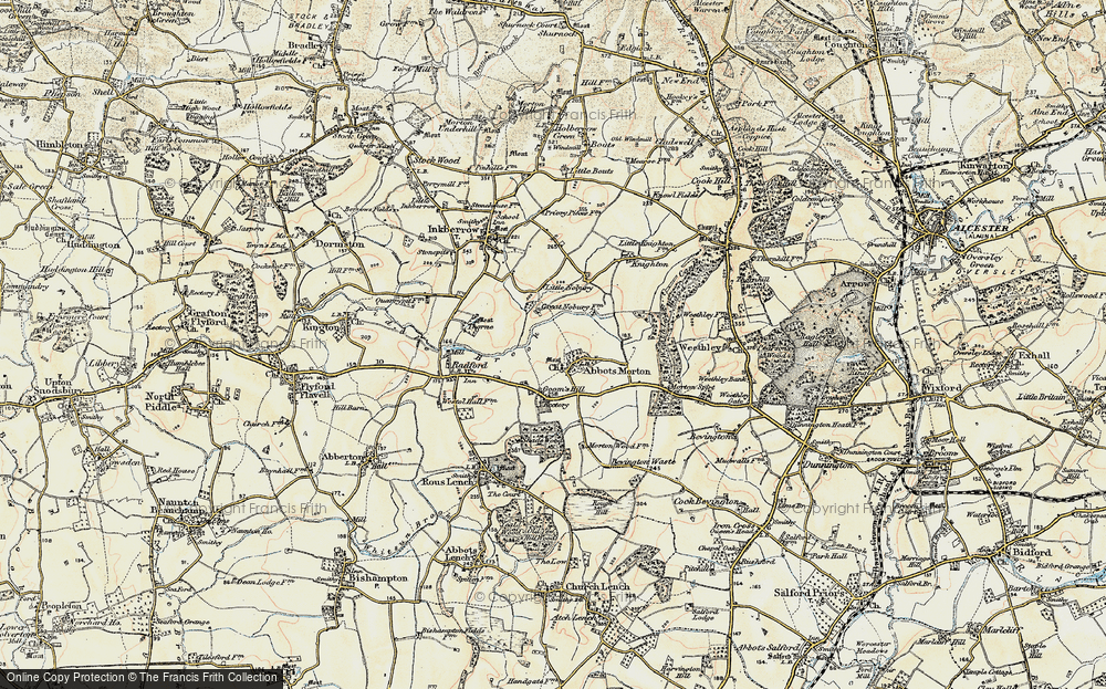 Old Map of Abbots Morton, 1899-1902 in 1899-1902