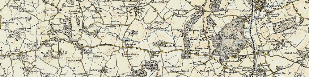 Old map of Abbots Morton in 1899-1902