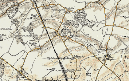 Old map of Wild Goose Leys in 1901