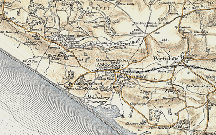 Old map of Abbotsbury Plains in 1899