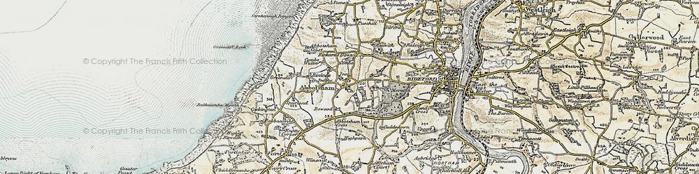 Old map of Abbotsham Cross in 1900