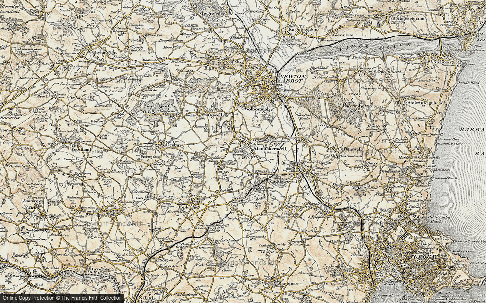 Old Map of Abbotskerswell, 1899 in 1899