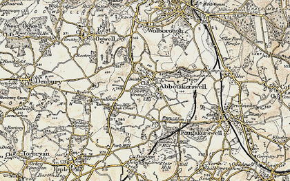 Old map of Abbotskerswell in 1899