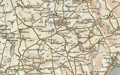 Old map of Abbotsleigh in 1899