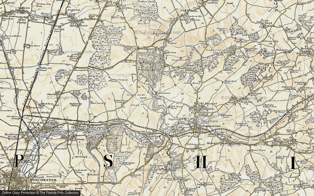 Old Map of Abbotstone, 1897-1900 in 1897-1900