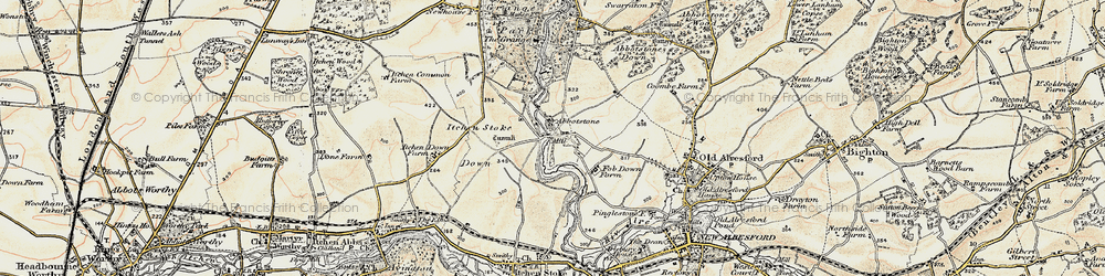 Old map of Abbotstone in 1897-1900