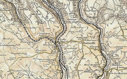 Old map of Aberbargoed in 1899-1900