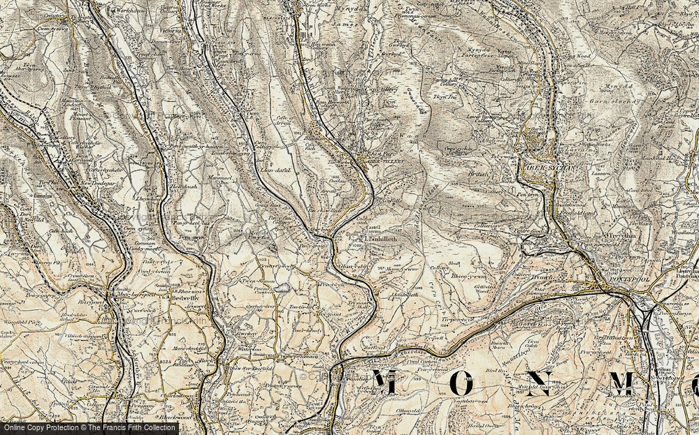 Old Map of Aberbeeg, 1899-1900 in 1899-1900