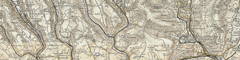 Old map of Aberbeeg in 1899-1900