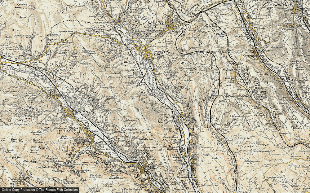Old Map of Abercanaid, 1899-1900 in 1899-1900